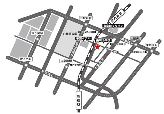 アクセスマップ | 個室宴会 銀座 吉乃翔